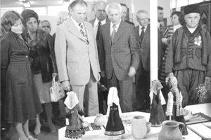 Откриване на Първия международен панаир на художествените занаяти – Орешак, 1978 г.