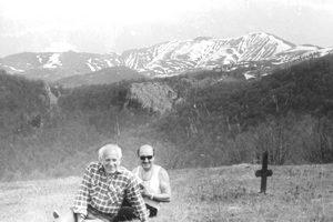 С Дочо Нешков на Чероосъмското пасище, 1988 г.