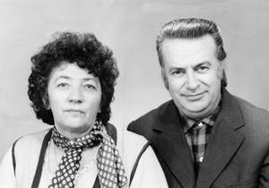 Стефан Дачев със съпругата си, 1984 г.